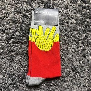 Forever 21 Mens Fries Crew Socks